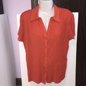 Dressbarn orange ribbed top. Size XL.